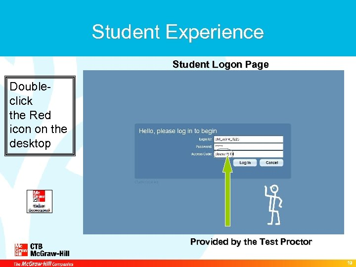 Student Experience Student Logon Page Doubleclick the Red icon on the desktop Provided by