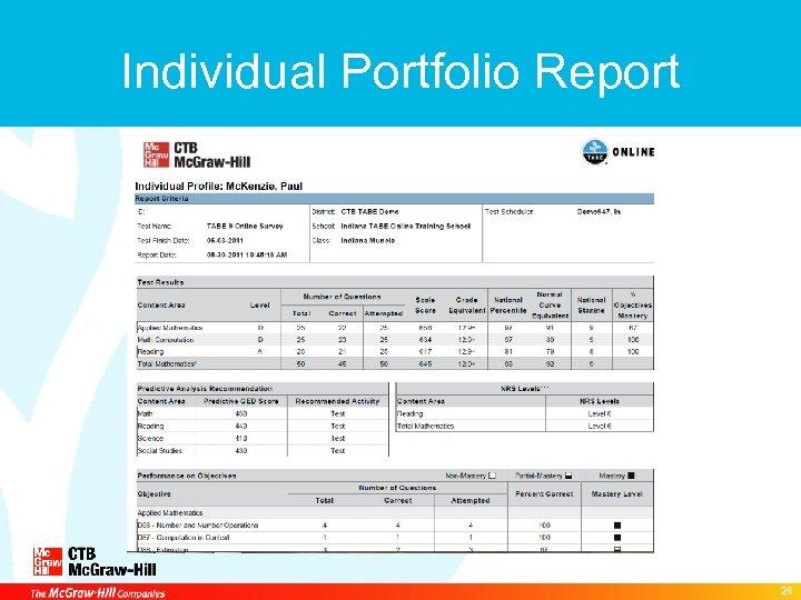 Individual Portfolio Report 28