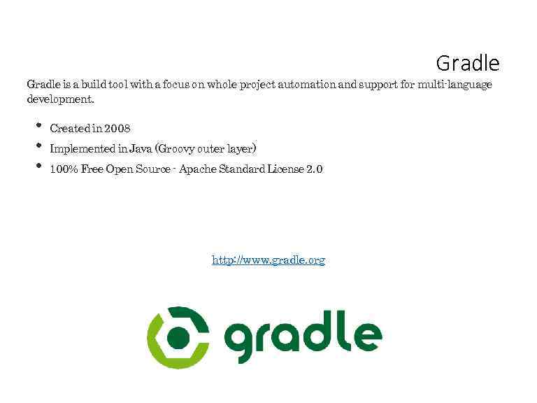 Virtual Gradle Workshop Course Structure 10 topics