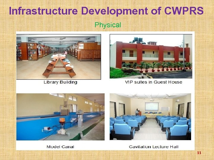 Infrastructure Development of CWPRS Physical 11
