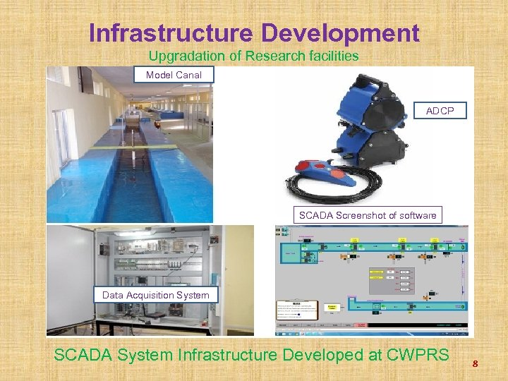 Infrastructure Development Upgradation of Research facilities Model Canal ADCP SCADA Screenshot of software Data