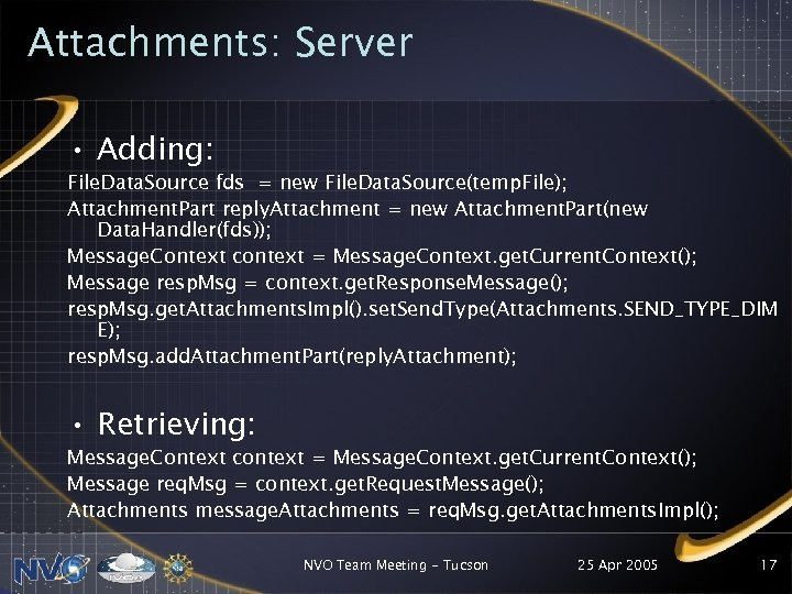 Attachments: Server • Adding: File. Data. Source fds = new File. Data. Source(temp. File);