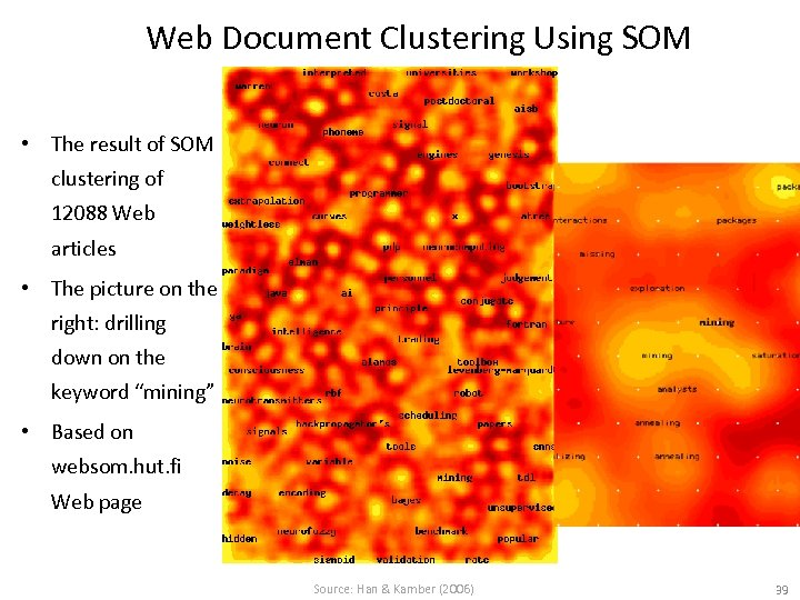 Web Document Clustering Using SOM • The result of SOM clustering of 12088 Web