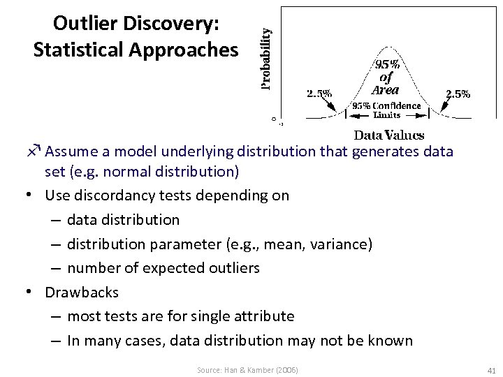Outlier Discovery: Statistical Approaches f Assume a model underlying distribution that generates data set