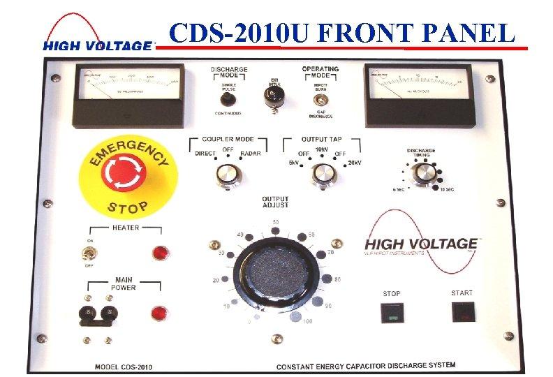 CDS-2010 U FRONT PANEL 3/18/2018 5