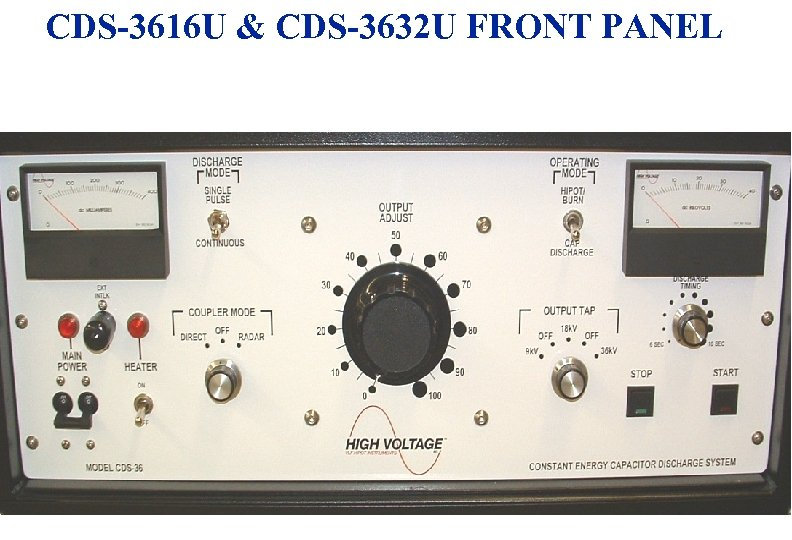 CDS-3616 U & CDS-3632 U FRONT PANEL 3/18/2018 9