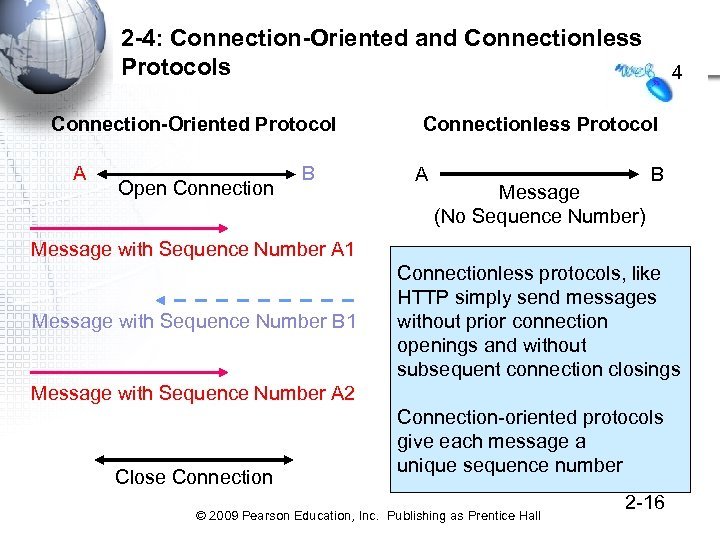 2 -4: Connection-Oriented and Connectionless Protocols Connection-Oriented Protocol A Open Connection B 4 Connectionless