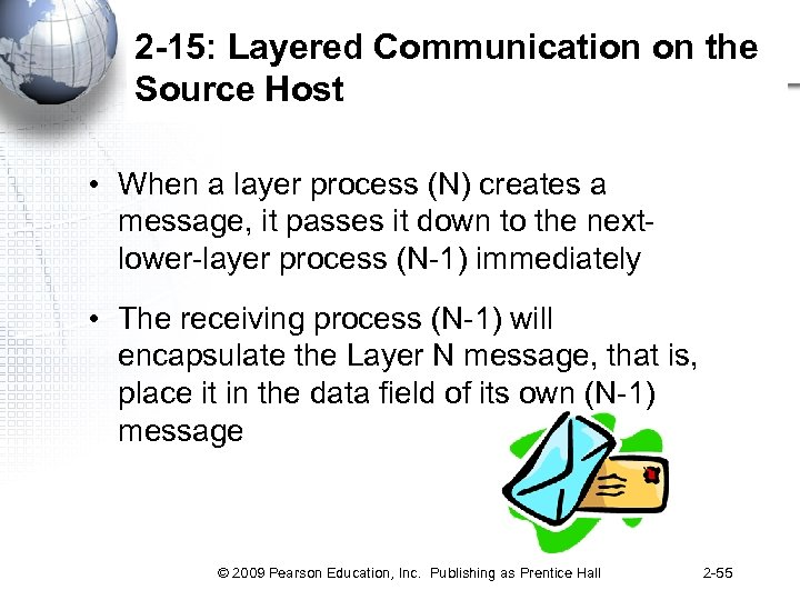 2 -15: Layered Communication on the Source Host • When a layer process (N)