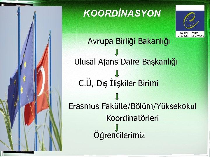 KOORDİNASYON Avrupa Birliği Bakanlığı Ulusal Ajans Daire Başkanlığı C. Ü, Dış İlişkiler Birimi Erasmus
