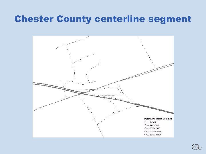 Chester County centerline segment