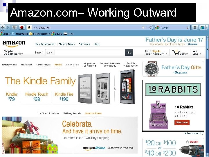 Amazon. com– Working Outward