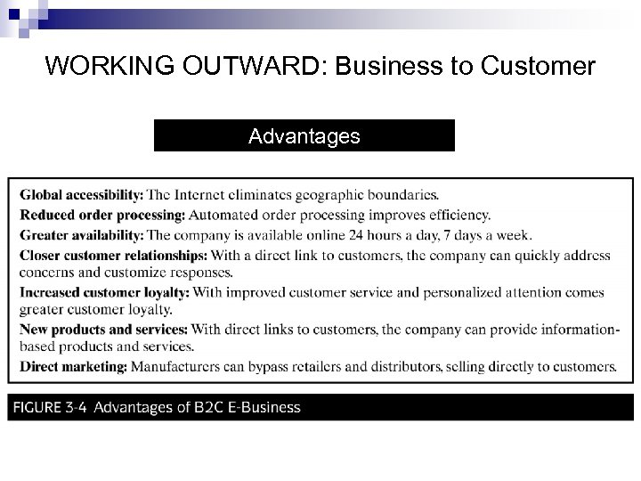 WORKING OUTWARD: Business to Customer Advantages