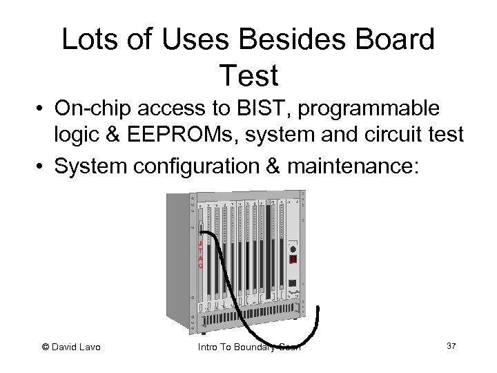 Lots of Uses Besides Board Test • On-chip access to BIST, programmable logic &