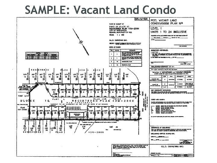 SAMPLE: Vacant Land Condo