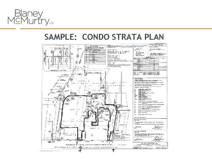 SAMPLE: CONDO STRATA PLAN