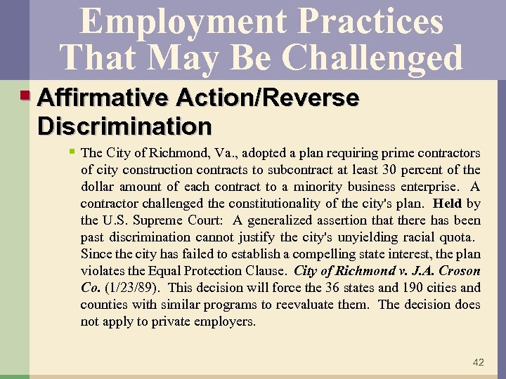 an analysis of affirmative action as a form of reverse discrimination in the united states The first problem is that racial discrimination is alive and well in the united states as  is affirmative action  form of affirmative action for the.