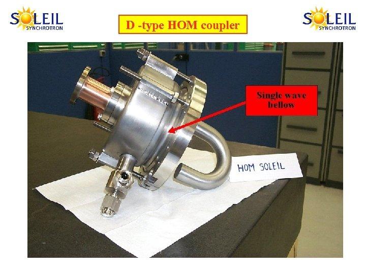D -type HOM coupler