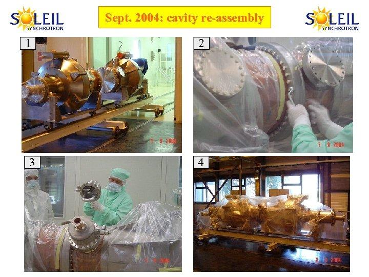 Sept. 2004: cavity re-assembly 1 3 2 4