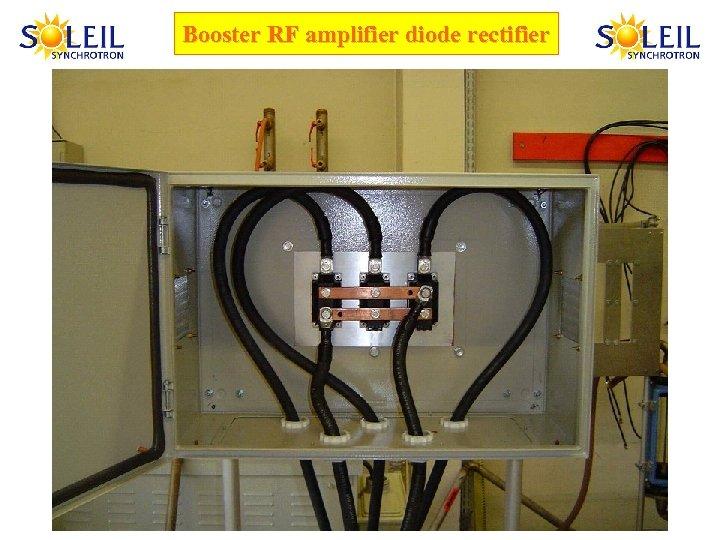 Booster RF amplifier diode rectifier