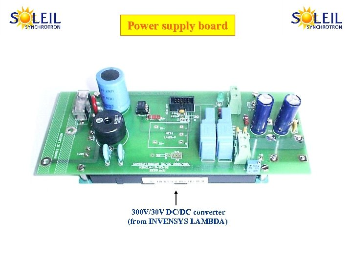 Power supply board 300 V/30 V DC/DC converter (from INVENSYS LAMBDA)