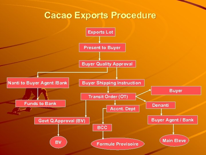 Cacao Exports Procedure Exports Lot Present to Buyer Quality Approval Nanti to Buyer Agent
