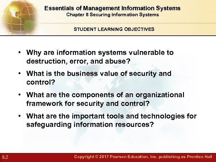 Chapter 8 Securing Information Systems 8 1 Copyright