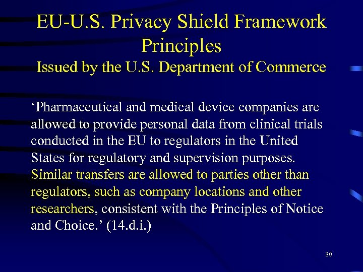 EU-U. S. Privacy Shield Framework Principles Issued by the U. S. Department of Commerce