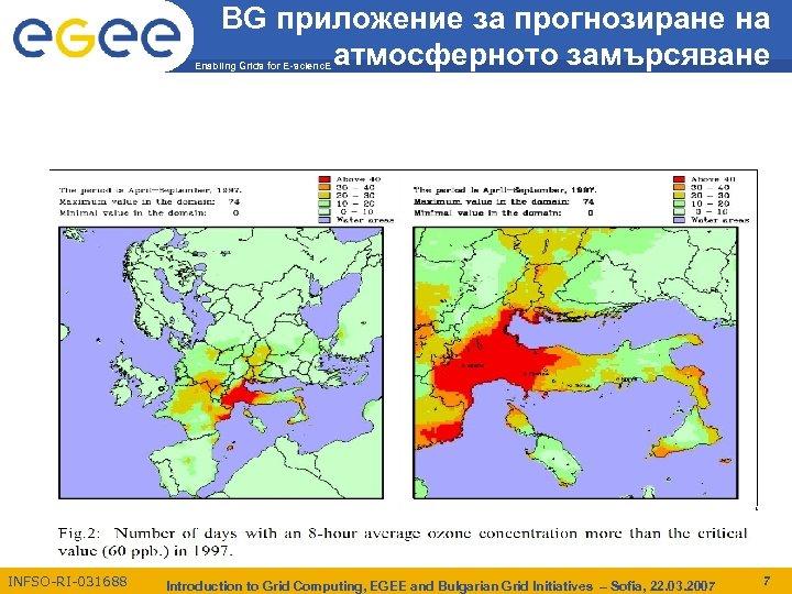 BG приложение за прогнозиране на атмосферното замърсяване Enabling Grids for E-scienc. E INFSO-RI-031688 Introduction