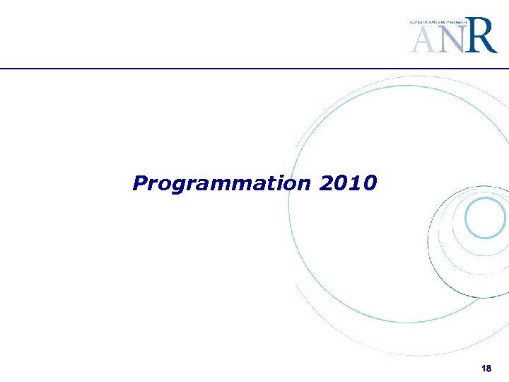 Programmation 2010 18