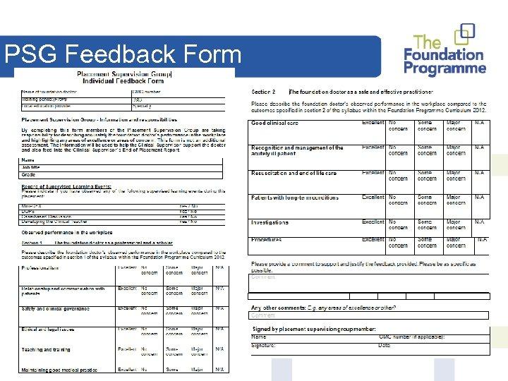 PSG Feedback Form