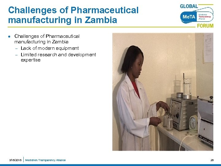 Challenges of Pharmaceutical manufacturing in Zambia l Challenges of Pharmaceutical manufacturing in Zambia –