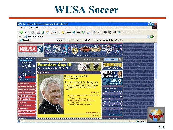WUSA Soccer 7 -3