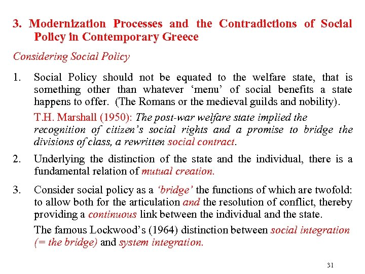 3. Modernization Processes and the Contradictions of Social Policy in Contemporary Greece Considering Social