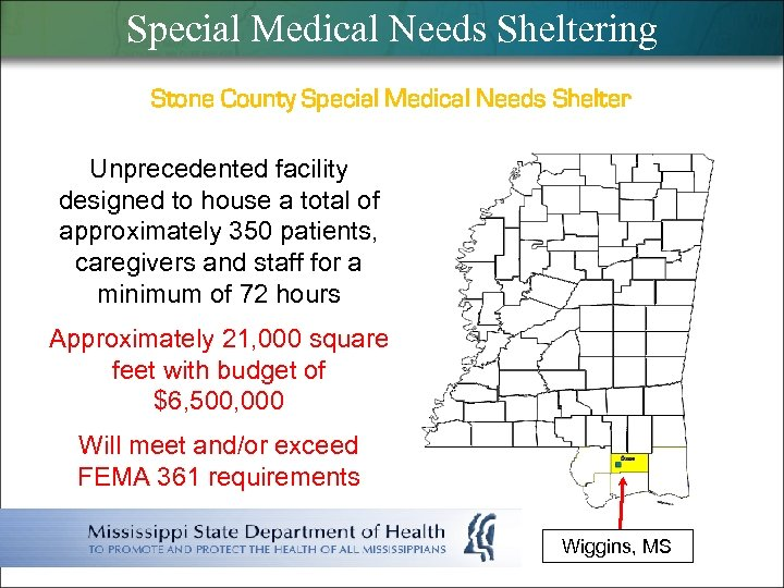 Special Medical Needs Sheltering Stone County Special Medical Needs Shelter Unprecedented facility designed to