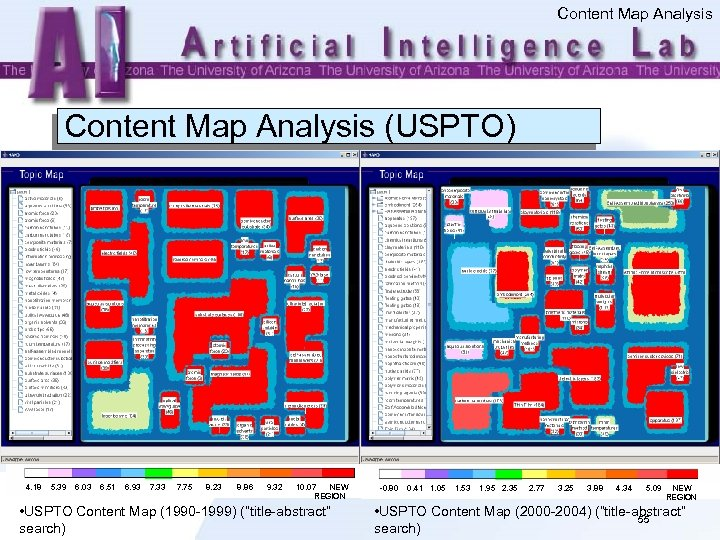 Content Map Analysis (USPTO) 4. 18 5. 39 6. 03 6. 51 6. 93