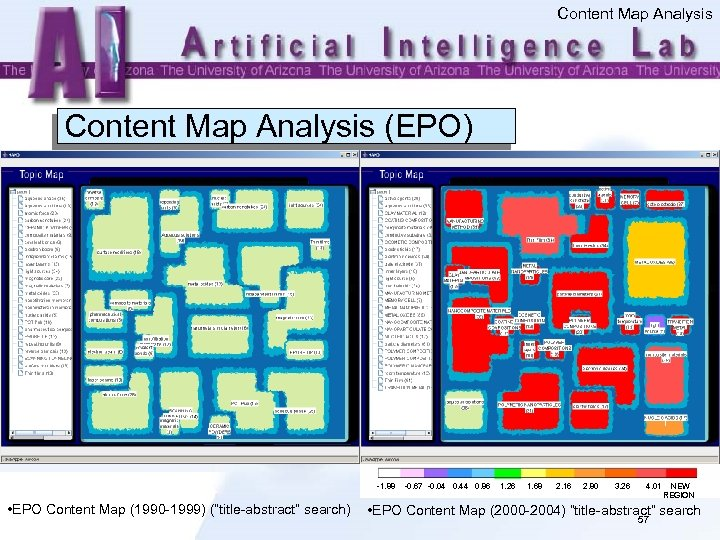 """Content Map Analysis (EPO) -1. 88 • EPO Content Map (1990 -1999) (""""title-abstract"""" search)"""