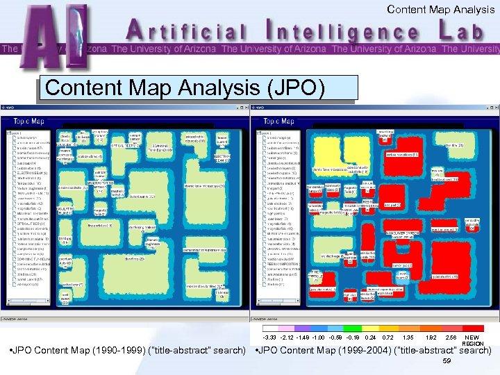 Content Map Analysis (JPO) -3. 33 -2. 12 -1. 48 -1. 00 -0. 58