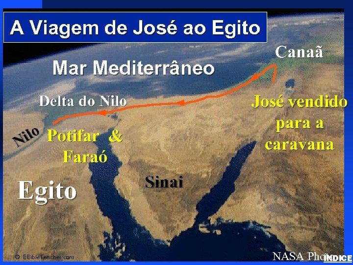 A Viagem de José ao Egito Mar Mediterrâneo Click to add text Delta do