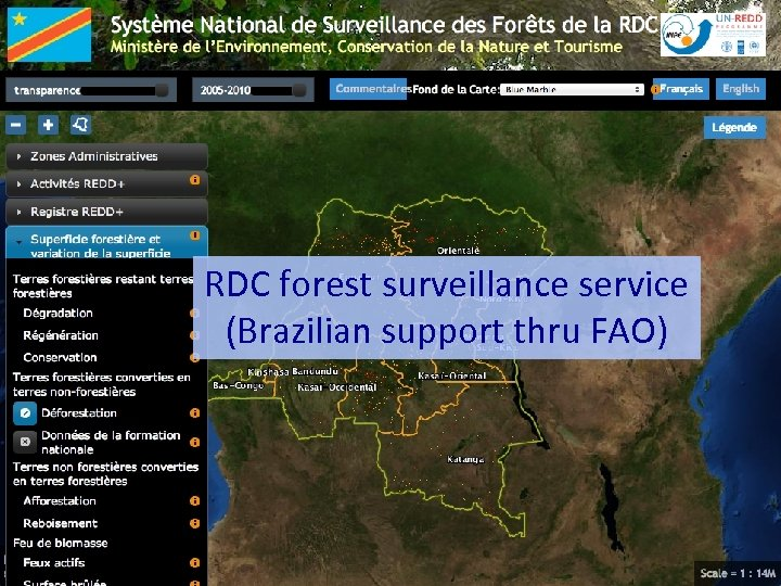 RDC forest surveillance service (Brazilian support thru FAO)