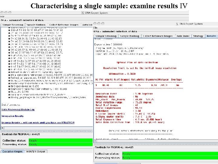 Characterising a single sample: examine results IV