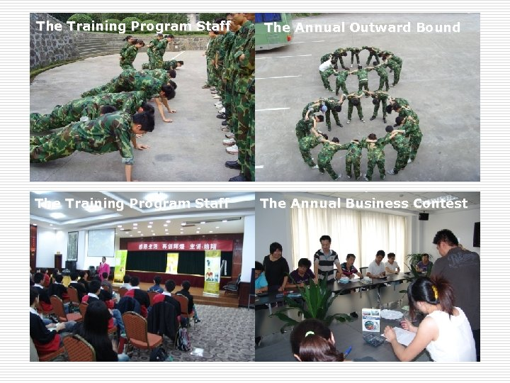 The Training Program Staff The Annual Outward Bound The Training Program Staff The Annual