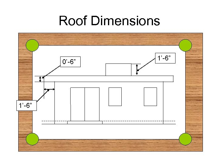 """Roof Dimensions 0'-6"""" 1'-6"""""""