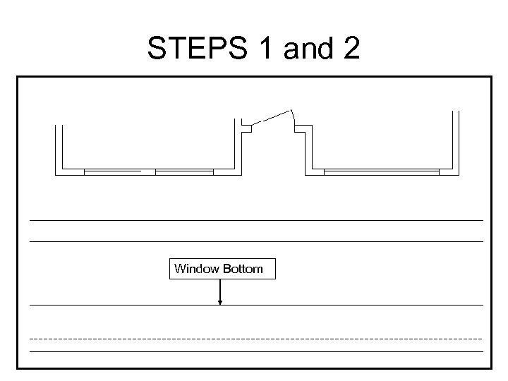 STEPS 1 and 2 Window Bottom