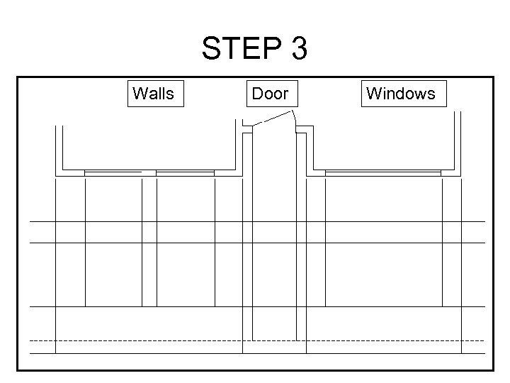 STEP 3 Walls Door Windows
