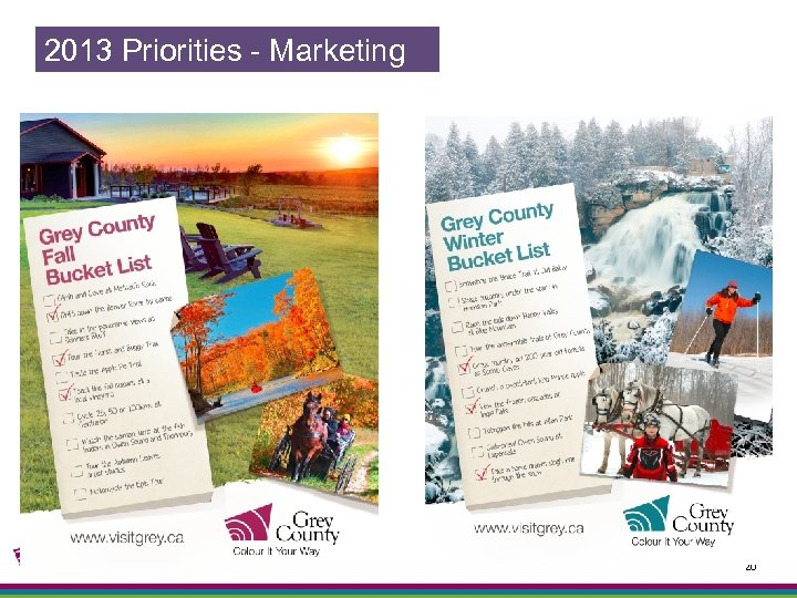2013 Priorities - Marketing 20