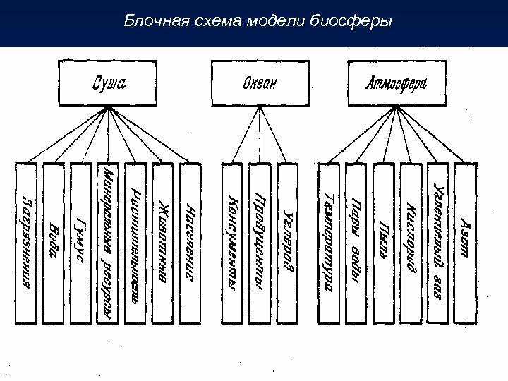 Блочная схема модели биосферы