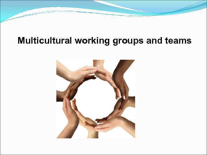 Multicultural working groups and teams