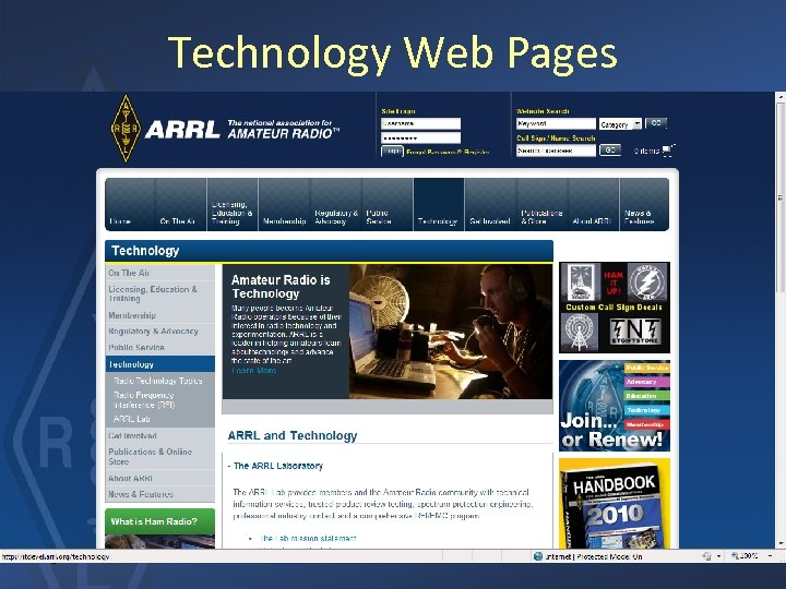 Technology Web Pages