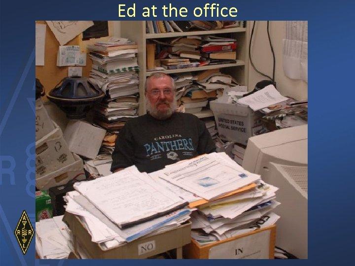Ed at the office