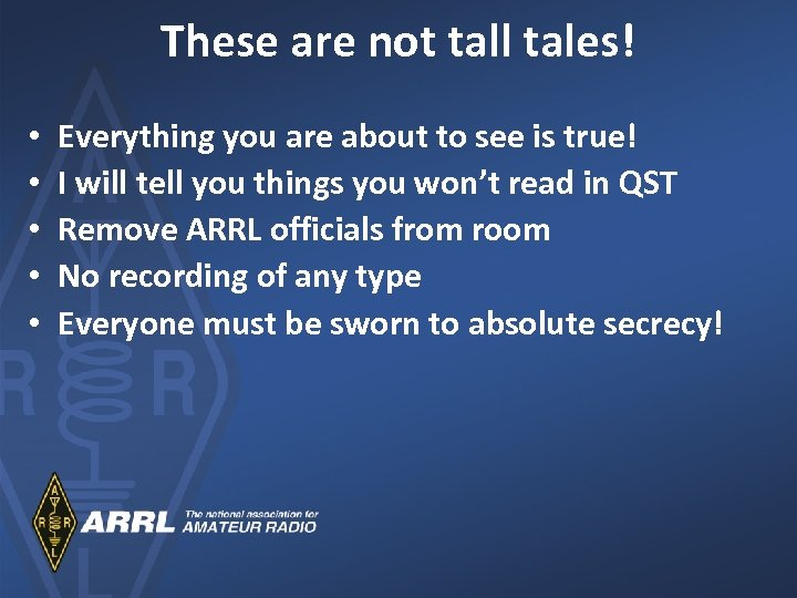 These are not tall tales! • • • Everything you are about to see